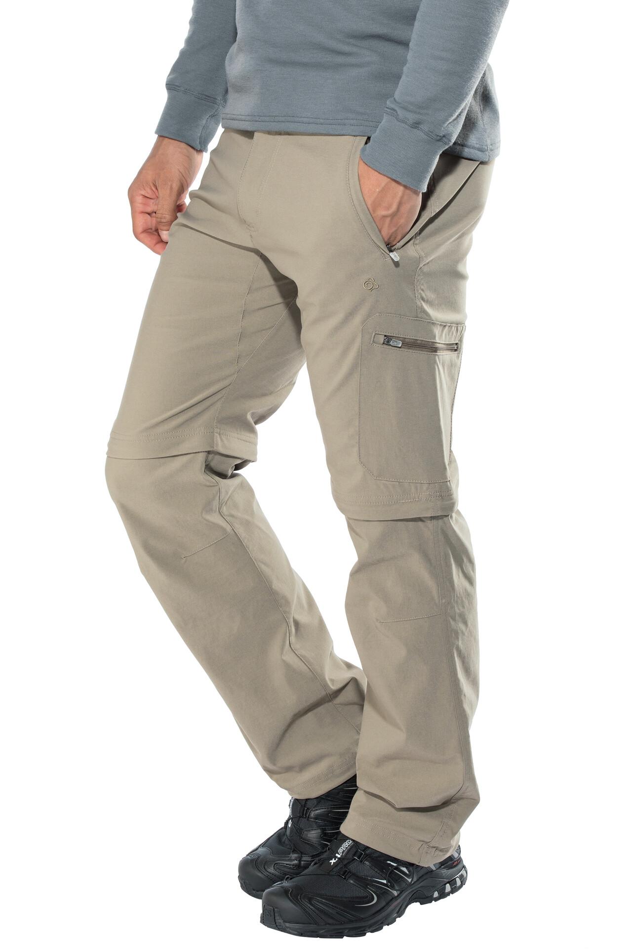 Craghoppers Pro Nosilife De Hombre Convertible Beige Pantalones Trekking ffAq6T
